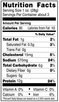 Pemmican Organic Teriyaki Beef Jerky Nutrition