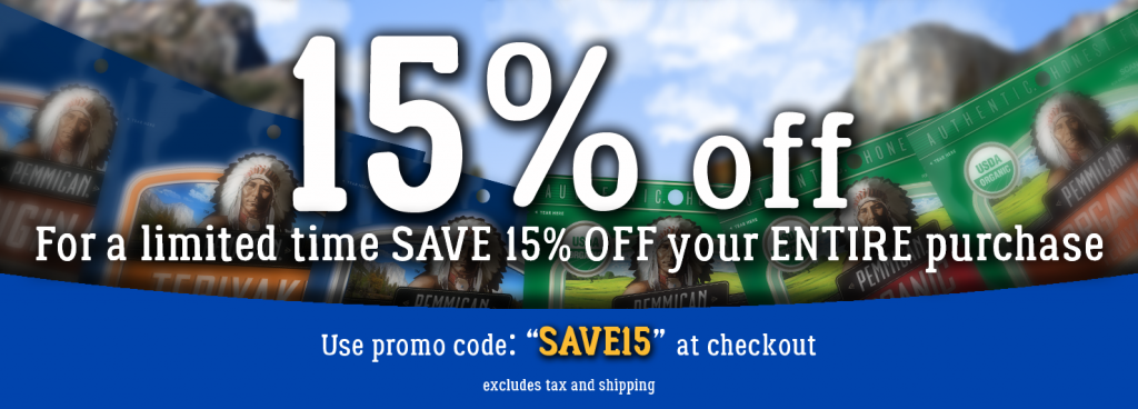 SUPER SAVINGS - For a limited time enjoy 15% off your entire order